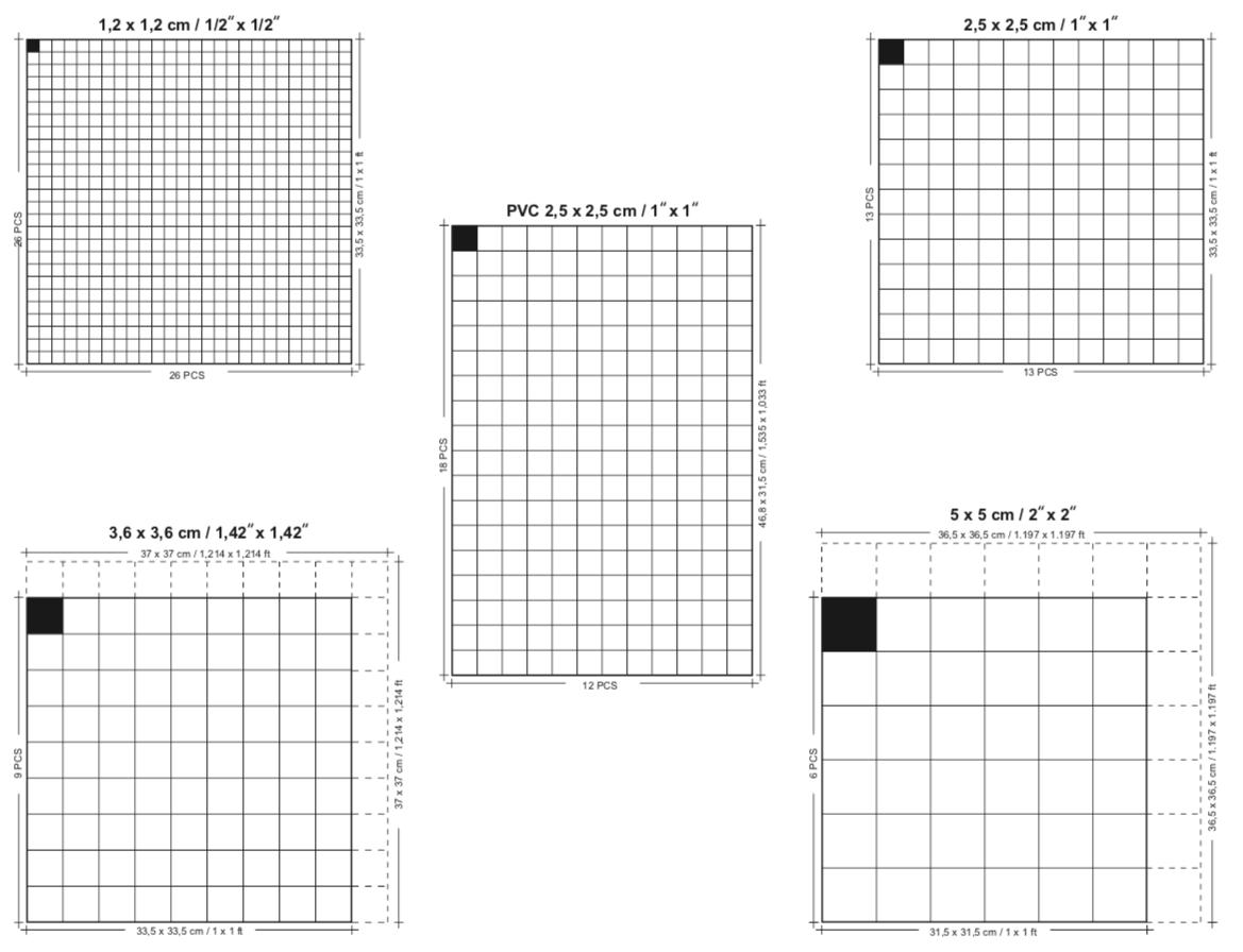 tamaño panel mosaico de vidrio reviglass